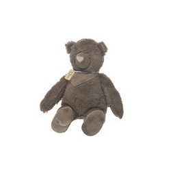 OURS+ECHARPE PELUCHE TAUPE 45CM
