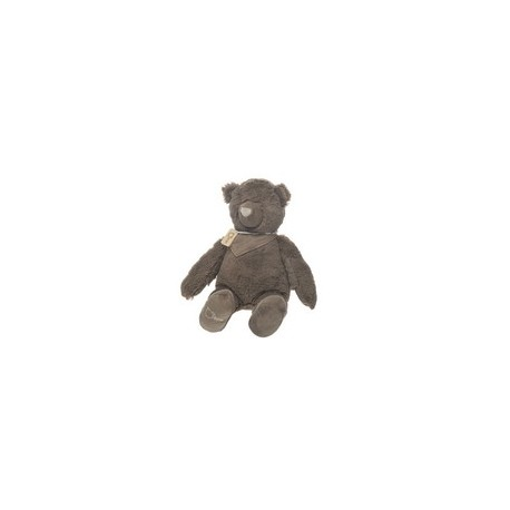 OURS+ECHARPE PELUCHE TAUPE