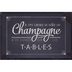 PLAQUES METAL CHAMPAGNES..