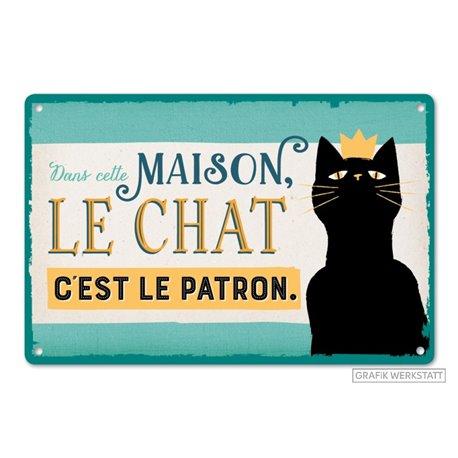 PLAQUE LE PATRON...