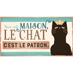 PANCARTE LE CHAT...