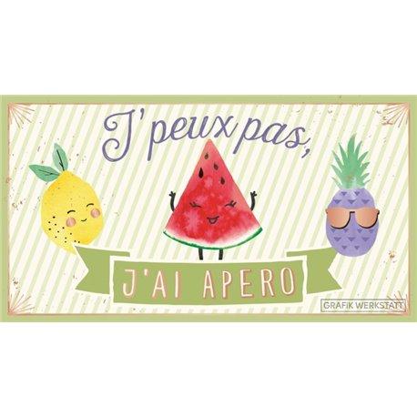 PANCARTE J'PEUX PAS...