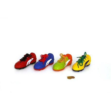 TIRELIRE CRAMPONS FOOT 16 X 6 X 6,5 CM / 4 ASS