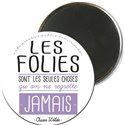 MAGRO5E08 - MAGNETS RONDS TYPO COULEUR