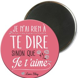 MAGRO5E07 - MAGNETS RONDS TYPO COULEUR
