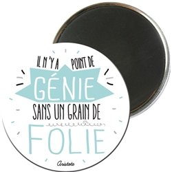 MAGRO5E06 - MAGNETS RONDS TYPO COULEUR