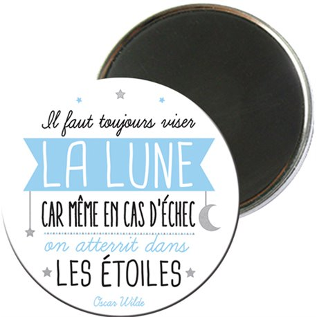 MAGRO5E02 - MAGNETS RONDS TYPO COULEUR