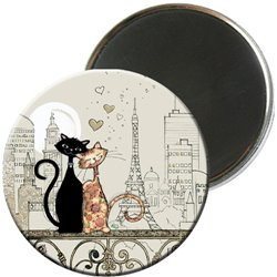 MCH 009- MAGNET ROND CHATS