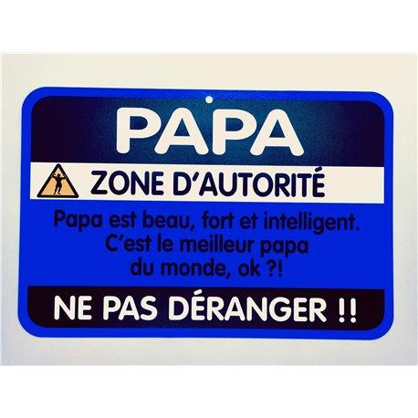Plaque porte Papa