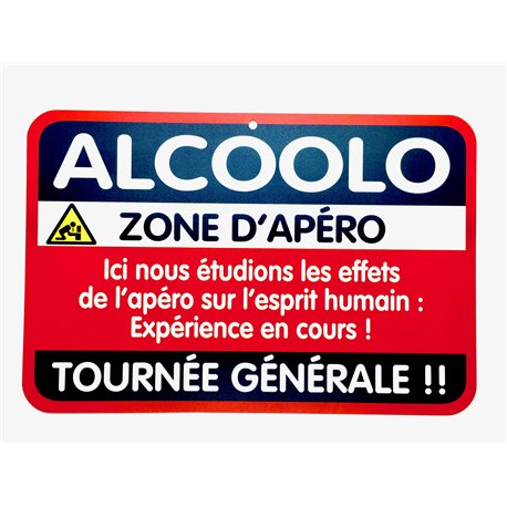 Plaque porte Alcoolo