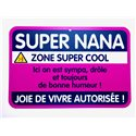 Plaque porte Super Nana