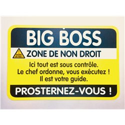 Plaque porte Big Boss