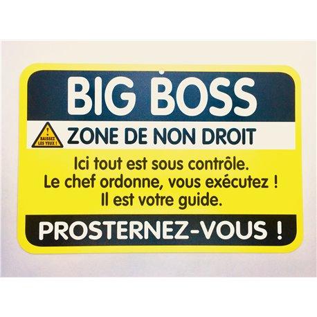 Plaque porte Big Boss