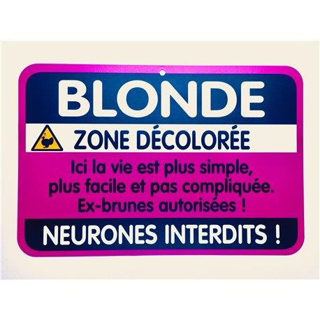 Plaque porte Blonde