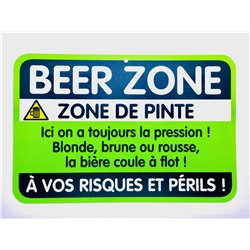 Plaque porte Beer Zone
