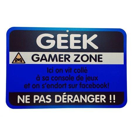 Plaque porte Geek