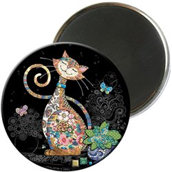 MAGNET ROND JEWELS CHAT