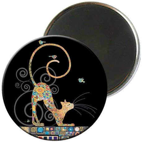 MAGNET ROND JEWELS CHAT 2