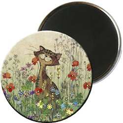 MAGNET ROND BA AMYS CHAT COQUELICOT 3