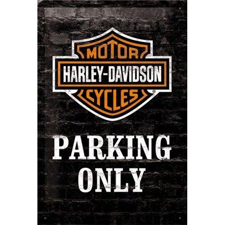Tin Sign 20x30 Harley-Davidson Parking