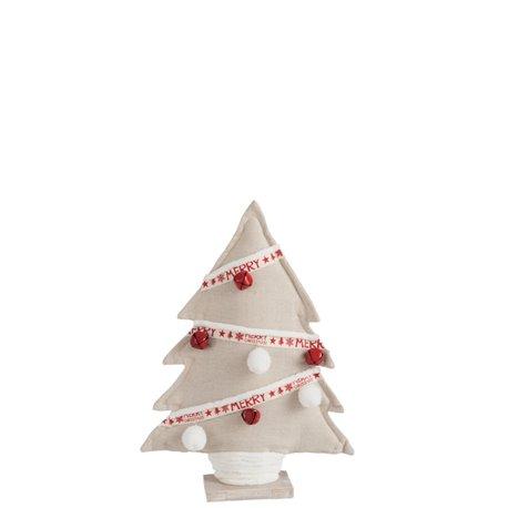 Sapin De Noel Textile Beige/Rouge/Blanc Small