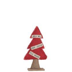 Sapin De Noel Decoratif Textile Jute/Rouge Small