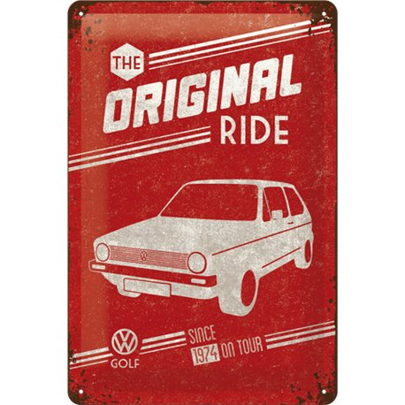Tin Sign 20x30 VW Golf - The Original Ride
