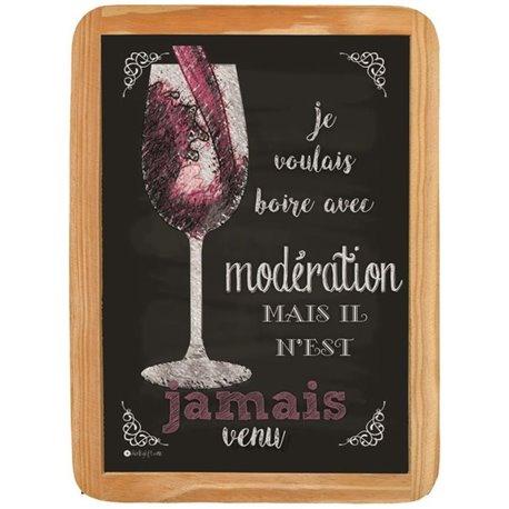 Wood sign boire avec modération - 20 x 30 cm printed MDF