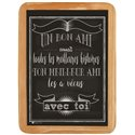 Wood sign meilleures histoires - 20 x 30 cm printed MDF