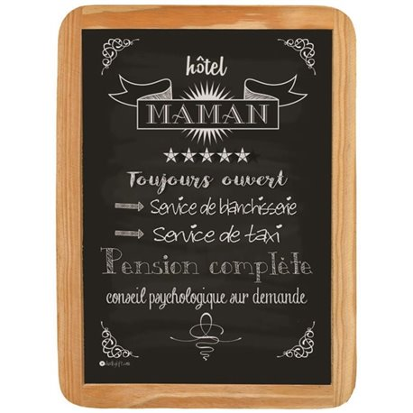 Wood sign Hotel Maman - 20 x 30 cm printed MDF
