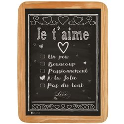 Wood sign aime a la folie - 20 x 30 cm printed MDF