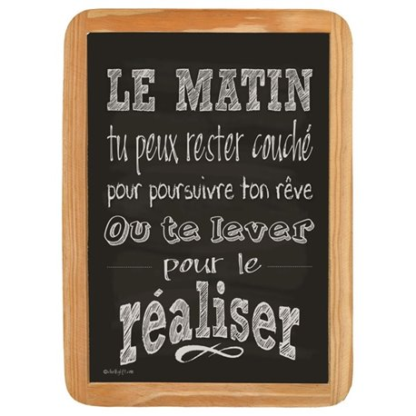 Wood Sign Le Matin - 20 x 30 cm printed MDF