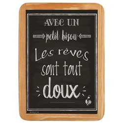 Wood Sign Petit Bisou - 20 x 30 cm printed MDF