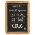 Wood Sign Petit Bisou - 20 x 30 cm printed MDF
