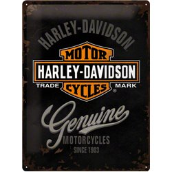Tin Sign 30x40 Harley-Davidson Genuine Logo