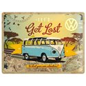 TIN SIGN 30X40CM LET'S GET LOST VW