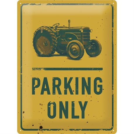 Tin Sign 30x40 Tractor Parking Only