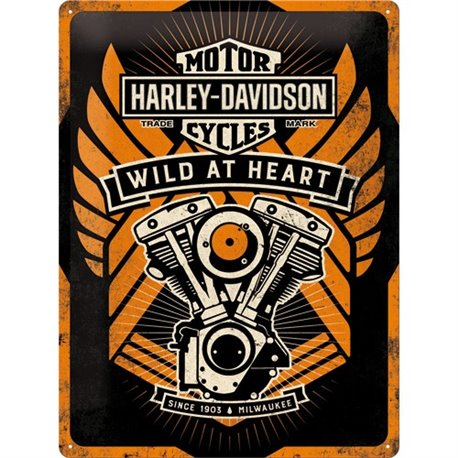 Tin Sign 30x40 H-D Wild at Heart
