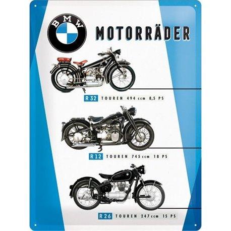 TIN SIGN 30X40 BMW MOTORRADER CHART