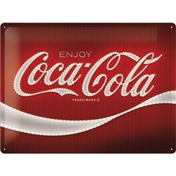 Tin Sign 30 x 40 Coca-Cola - Logo Red Lights