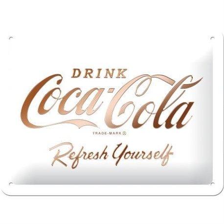 Tin Sign 15 x 20 Coca Refresh Yourself