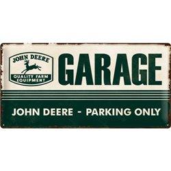 Tin Sign 25x50 John Deere Garage