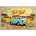 Tin Sign 40x60 VW Bulli Lets Get Lost
