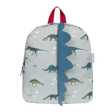 Oilcloth Back Pack - Spike - Dinosaurs