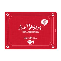 Tapis chat Bistrot des animaux