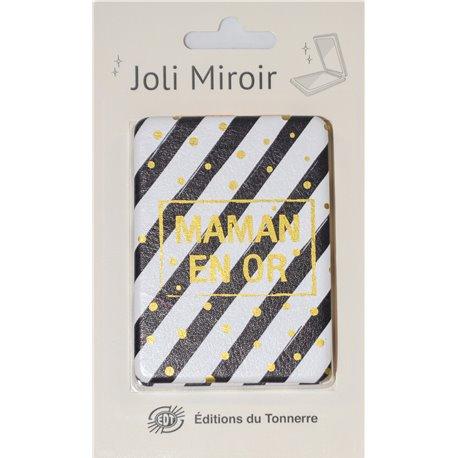 Joli Miroir Maman en Or