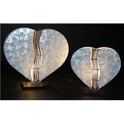 Grande lampe cœur