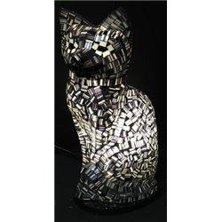 lampe chat mosaïque 25cm