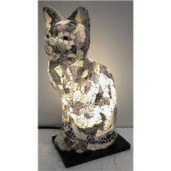 lampe chat mosaïque 30cm