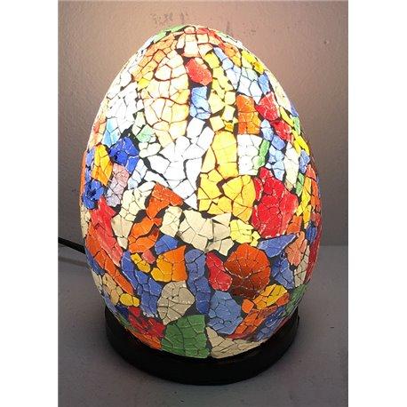 lampe oeuf multicolor 15cm